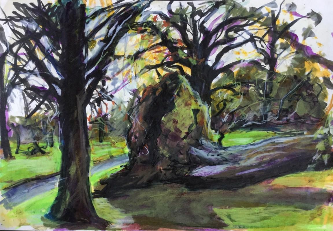 Fallen Tree, Clapham Common, 1987
