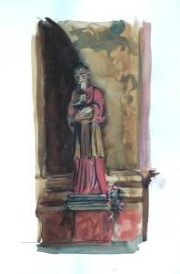 Statue, Church Interior, Umbria, 2000
