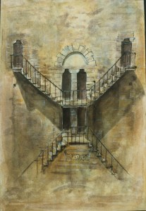 Steps, Florence, 1987, Private Collection