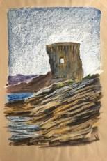 Genoese Watchtower, Desert des Agriates, Corsica, 2003