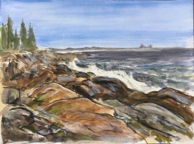 Johns Bay Coastline, Pemaquid, 2015