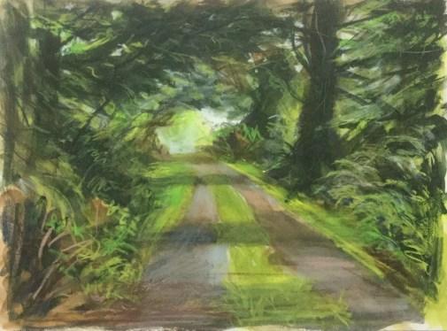 Driveway, Garden Cottage I, June, 2016