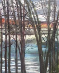 Upton Lake, Through the Trees, 1:30 pm, November 3rd, 2019