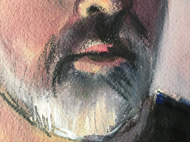 Self Portrait, February 8th, 2020 - Detail