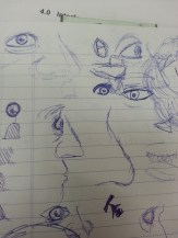 Mostly eyes and surrounding details