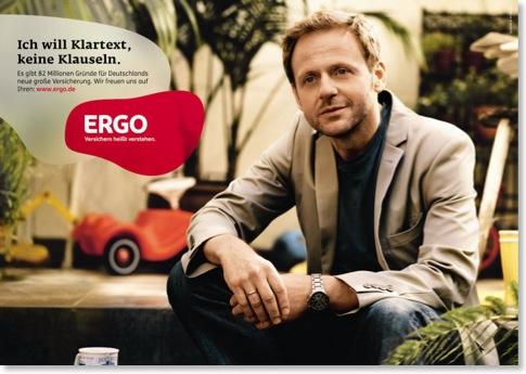 Eines der Ergo-Werbeplakate