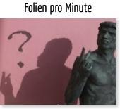 Wie viele Folien pro Minute?