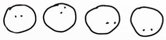 Ein Paar Augen lassen die Köpfe in verschiedene Richtungen blicken