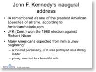 Beispielfolie aus der Lehrer-Online-Unterrichtsreihe zu Kennedys Antrittsrede