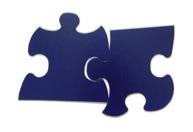 Zwei Puzzle-Teile, die nicht zusammen passen