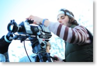 Regisseur mit Kamera