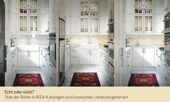 Echt oder nicht? 75% der Bilder in IKEA-Katalogen sind inzwischen computergeneriert.