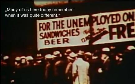 Saul Bass zeigt Bilder aus der amerikanischen Rezession.