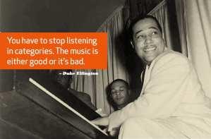 Duke Ellington über Schubladendenken.