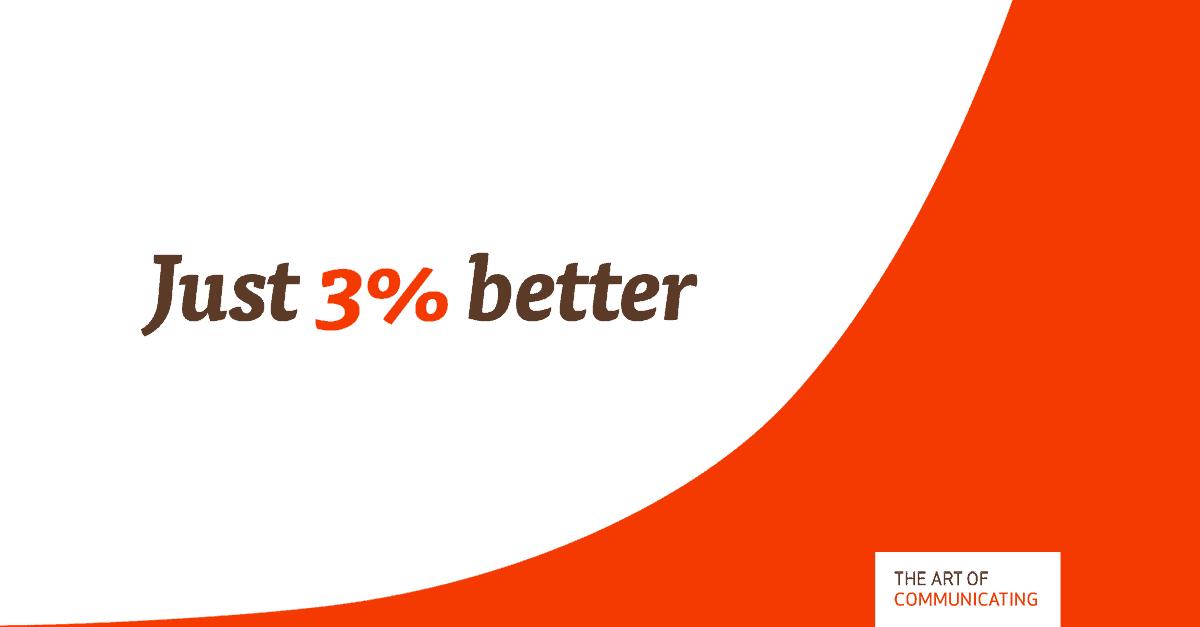 Just 3% better