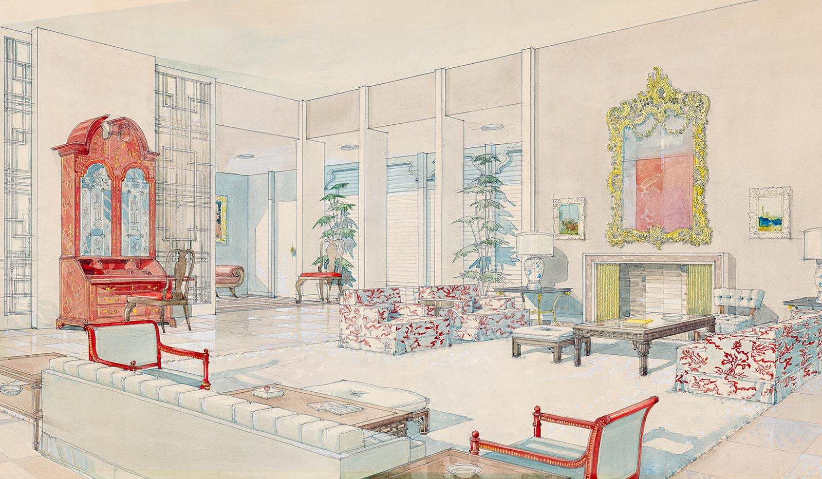 Feuds   Friends   At Home   Afield Some interior renderings from the William Haines studio