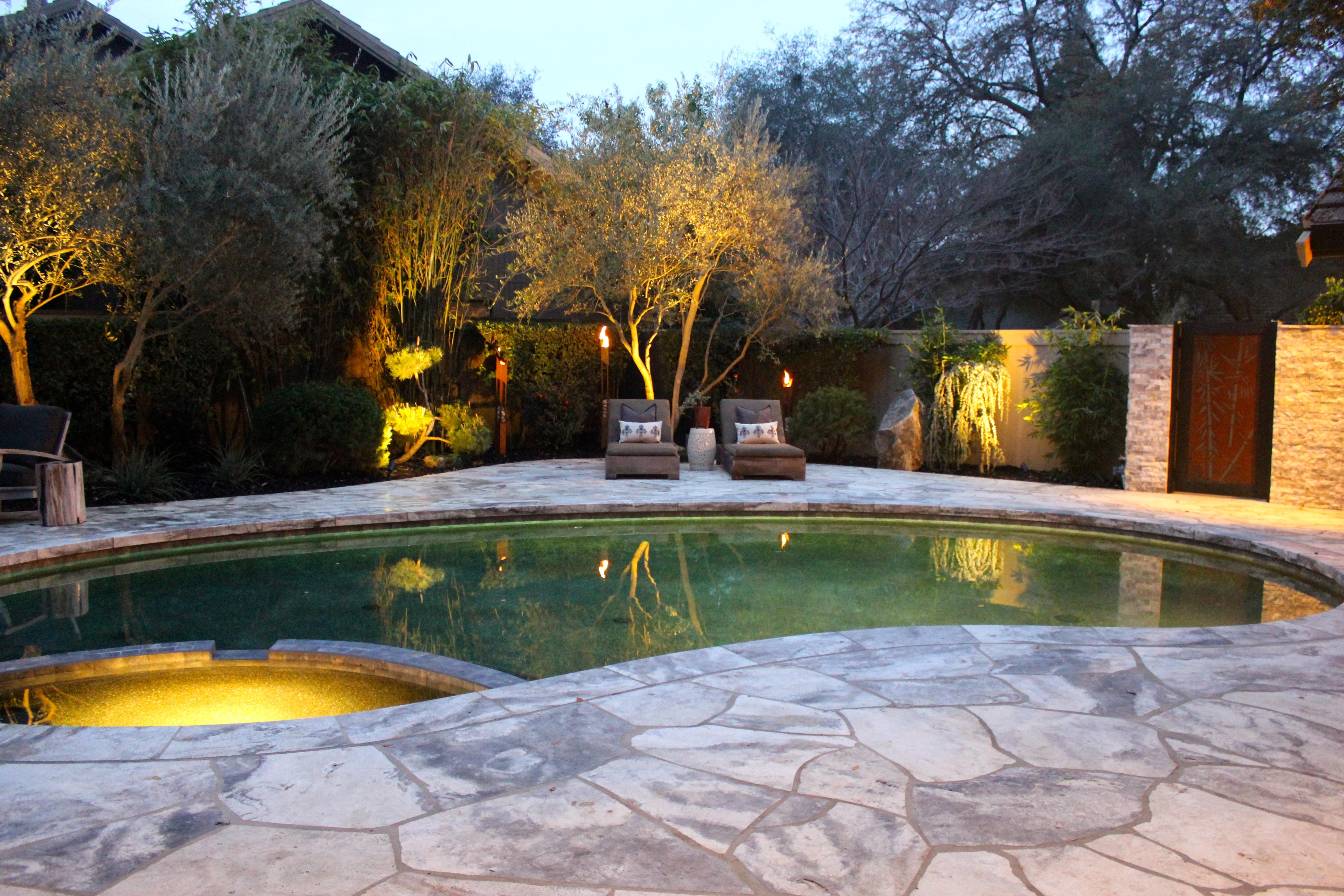 Asian Inspired Pool Amp Backyard Environment Michael