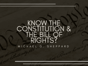 Know The Constitution & The Bill of Rights_ _ Michael G. Sheppard