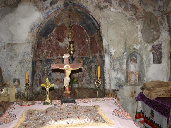 Small altar of the Panagia Monastery Church, Dhermi, southern Albania