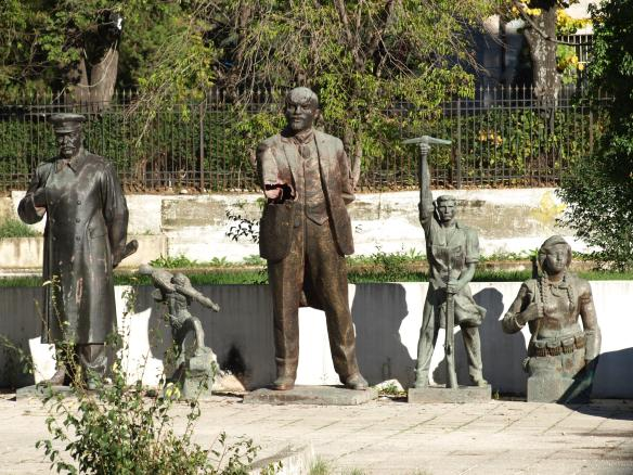 Lenin, Stalin and friends behind the Art Gallery, Tirana