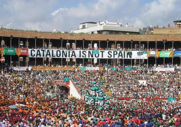 Nationalists in Tarragona bull ring