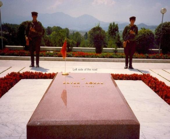 Enver Hoxha's tomb in Tirana Martyrs' Cemetery