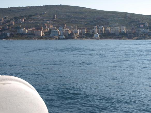 View of Saranda from fast ferry
