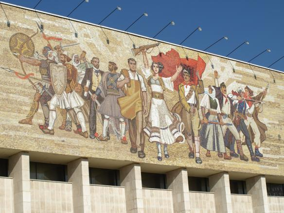 'The Albanians' - Mosaic on the National History Museum, Tirana