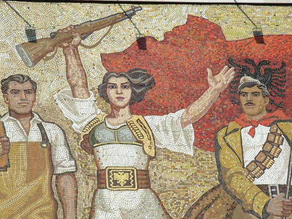 Mosaic on National Historical Museum - detail