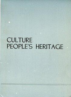 Culture - People's Heritage