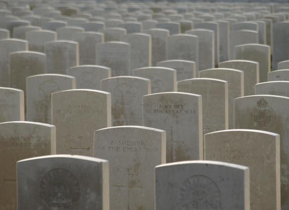 Soldiers of the 'Great War', Tyne Cot, Passendale, Belgium