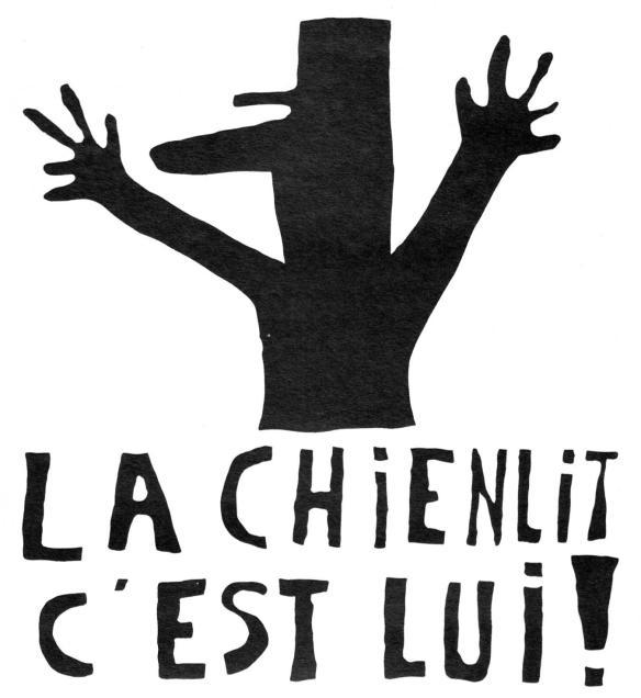 La chien lit c'est lui - Atelier Populaire - France 1968