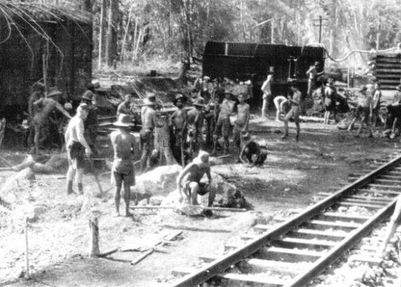 British POWs on Burma Railway