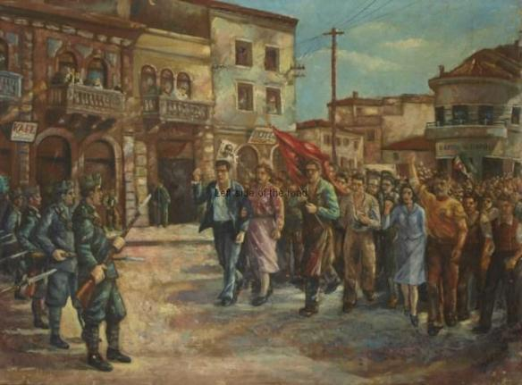Durres Demonstration - Sali Xhixha