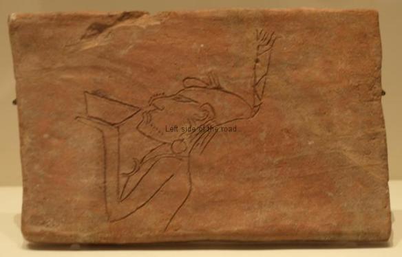 Mayan Exhibition, Liverpool - etched brick