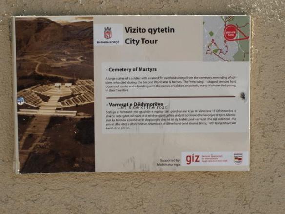 Korca Martyrs' Cemetery - information