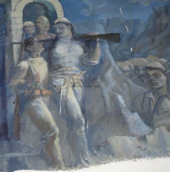 Bajram Curri - Mural in Looted Museum