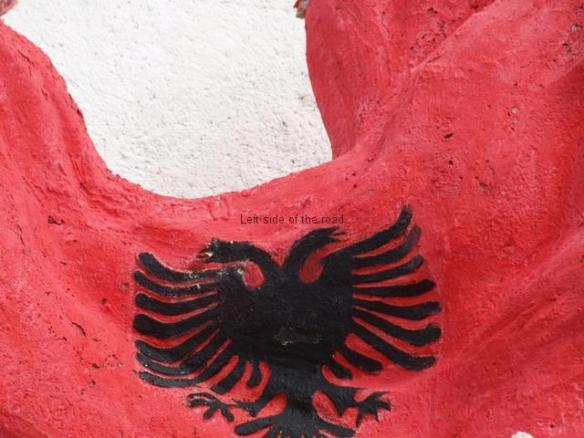 Vandalised flag
