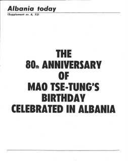 Albania Today No 6 (13) 1973 - Mao Birthday Supplement
