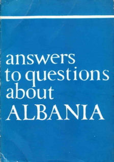 Answers To Questions About Albania - 1969