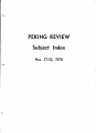 Peking Review - 1970 - 52 - Index