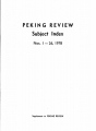 Peking Review - 1978 - 26 - Index