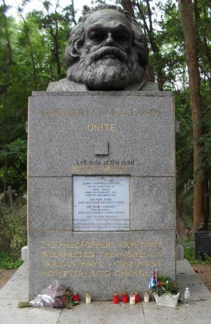 Karl Marx Tomb - Highgate Cemetery, London