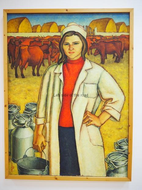 Isuf Sulovari - The milkwoman - 1971