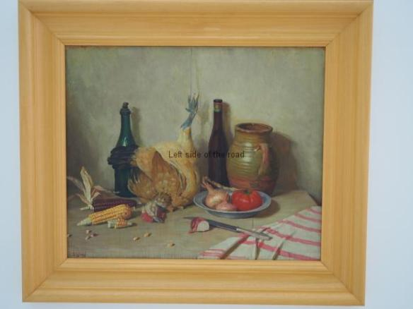 Nexhmedin Zajmi - Still life with chicken - 1955