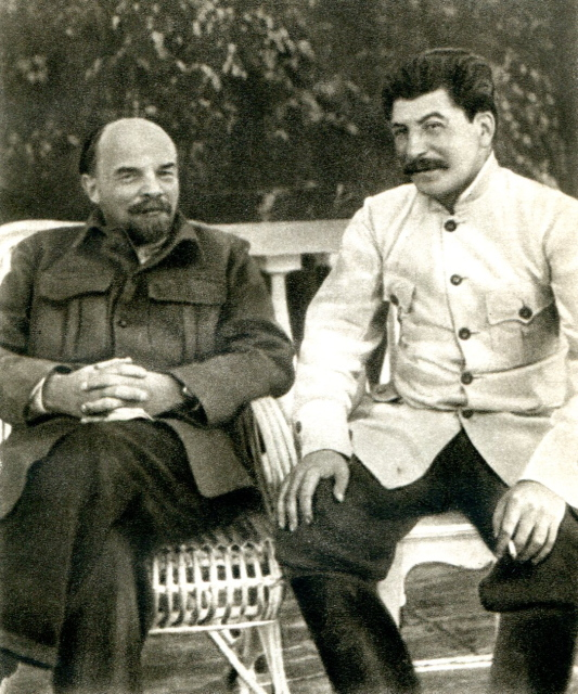 VI Lenin and JV Stalin in Gorki, 1922