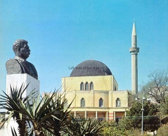 Bust of Stalin, Durres, main mosque, early 1960s