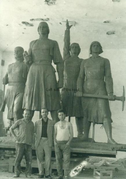The Four Heroines of Mirdita - and the sculptors