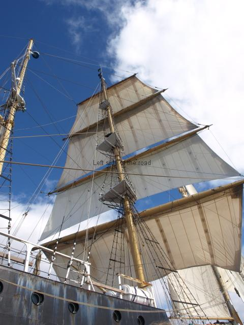 The Main Mast of a tall ship in the Bay of Biscay