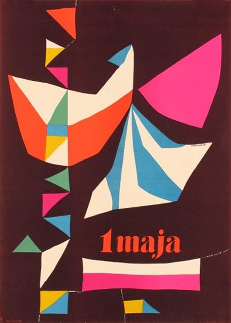 Polish May Day poster, Roman Cieslewicz, 1957